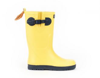Botte de pluie Aigle jaune/marine