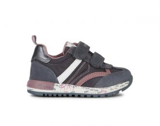 Sneaker Geox gris/rose