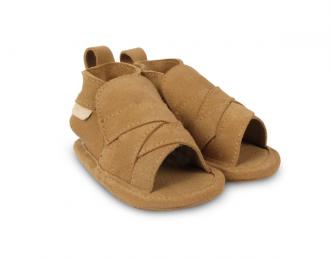 Chausson/sandale suède Boumy beige