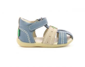 Sandale Kickers bleu/gris