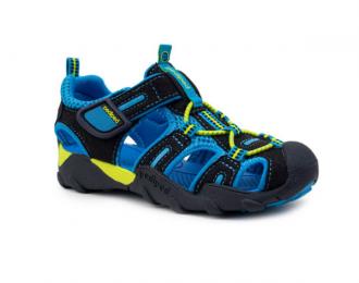 Sandale Pediped lavable noire/bleue