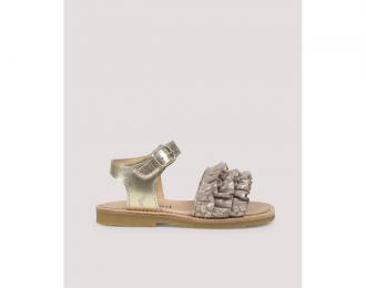 Sandales Petit Nord or/gris