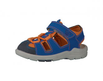 Sandale Ricosta bleu/orange – lavable