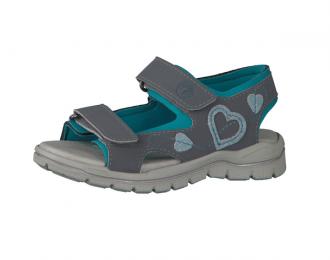 Sandale Ricosta gris/turquoise – lavable