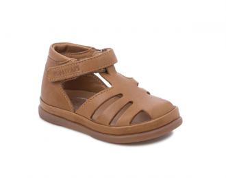 Sandale Pom d'Api camel – premiers pas