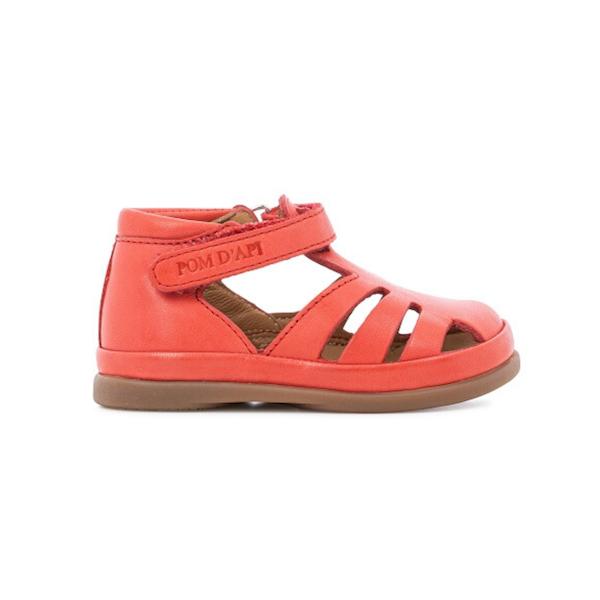 Sandale Pom d'Api pour bébé rouge