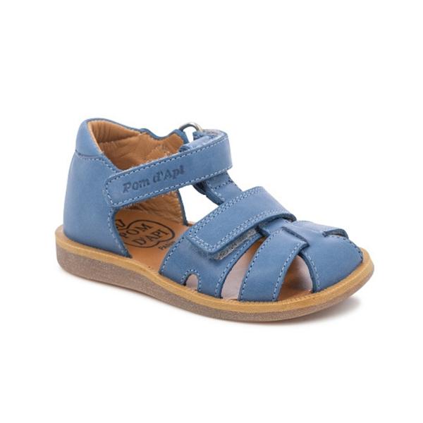 Sandale bleue Pom d'Api pour enfants