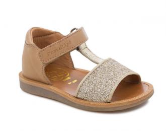Sandale Pom d'Api glitter/camel