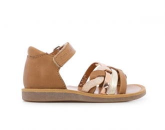Sandale Pom d'Api Tresse camel