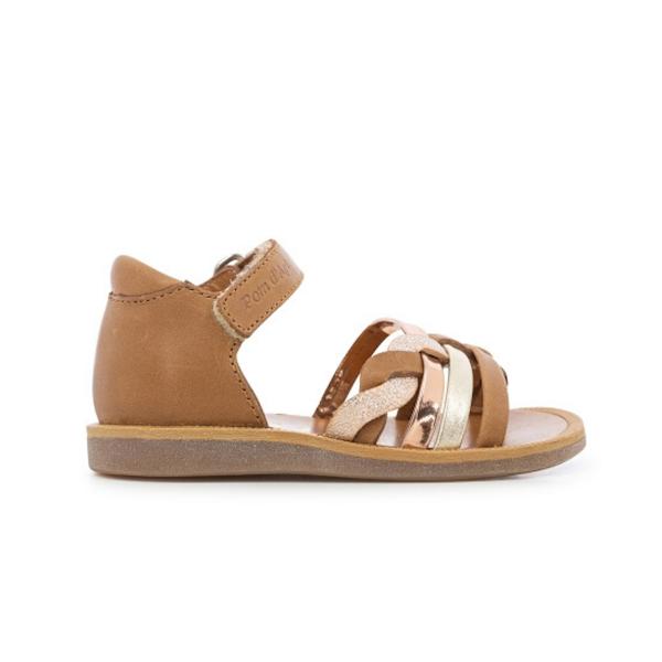 Sandale Pom d'Api pour enfant camel