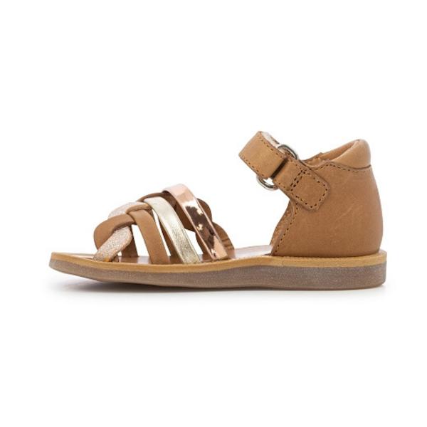 Sandale Pom d'Api pour enfants camel