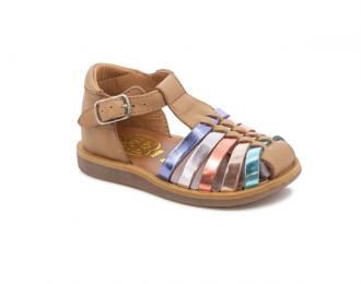 Sandale Pom d'Api camel/multi