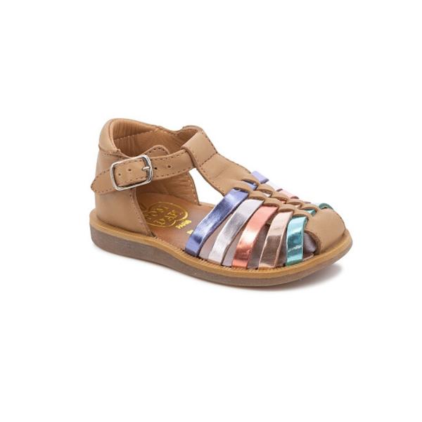 Sandale Pom d'Api camel pour filles