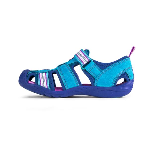 Sandale turquoise pour filles, lavables à la machine