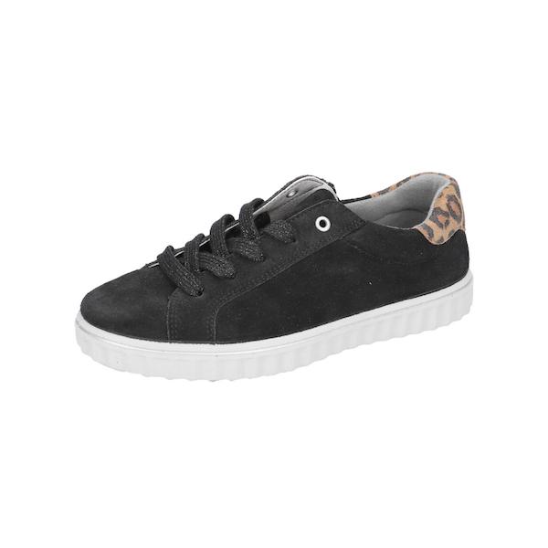 Chaussure pour enfants noire leopard