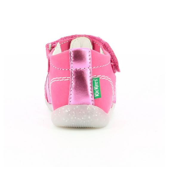 Sandale Kickers Bigflo rose