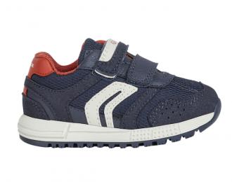 Sneakers Geox marine et rouge