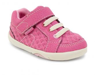 Sneakers rose pour bébé – lavable