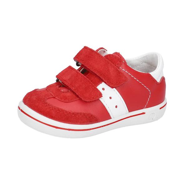 Chaussures rouge et à velcro pour enfants
