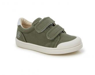 Sneaker Ten Is toile vert