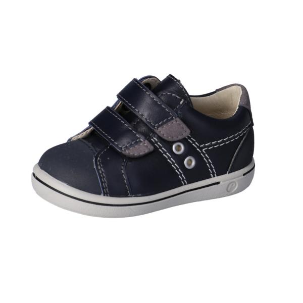 Chaussure en cuir pour enfant à velcro