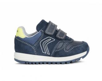 Sneakers Geox marine et jaune