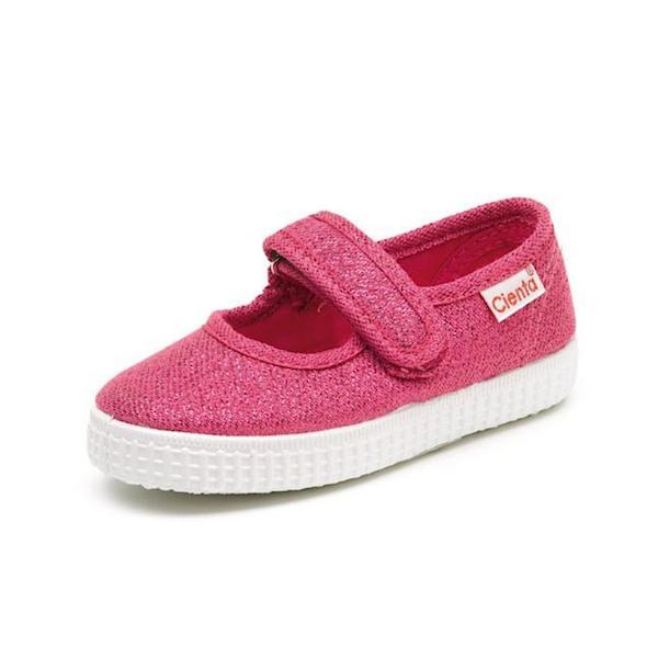 Chaussure cienta en toile bourgogne pour enfant de type slip on
