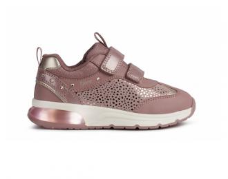 Chaussure Geox rose avec lumière