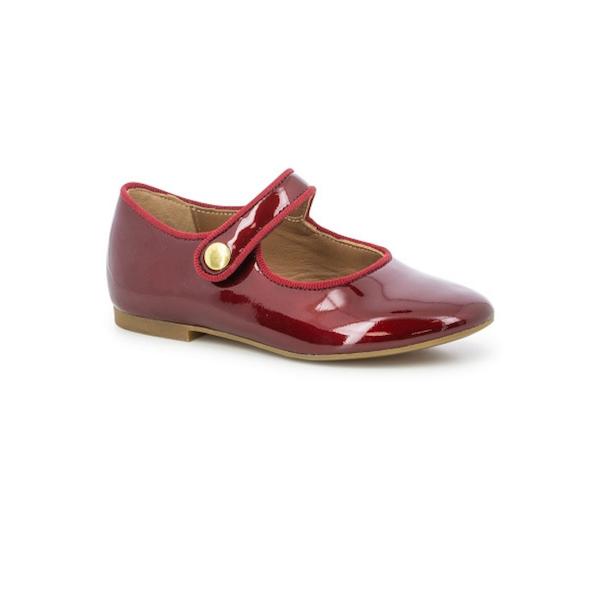 Chaussure pour enfant de type Mary Jane, rouge vernis