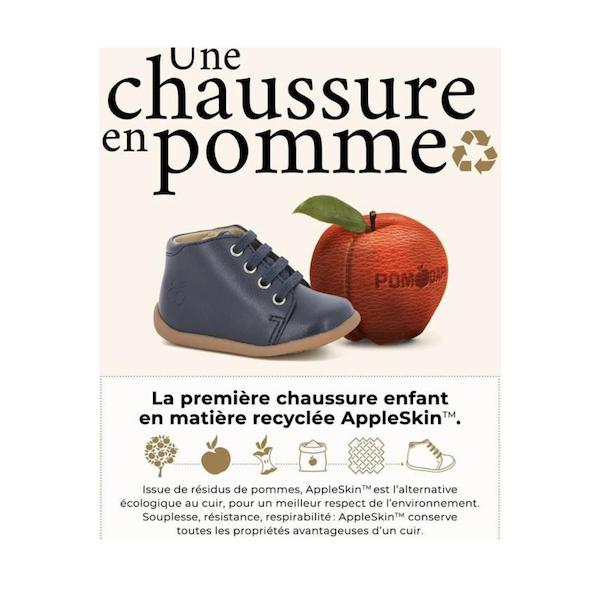 Une chaussure pour enfant en pomme !