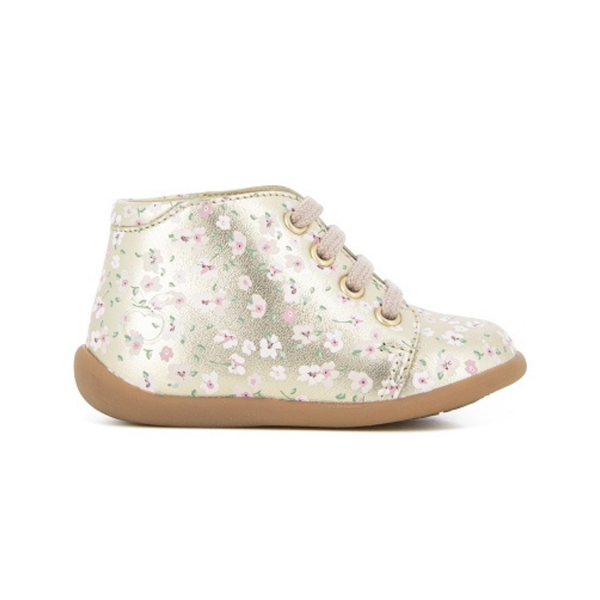 Chaussures pour enfant, premiers pas, fleurs