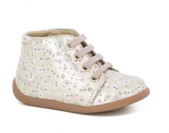 Chaussures Pom d'Api premiers pas fleurs vegane