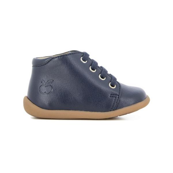 Chaussures pour enfant, premiers pas, marine.